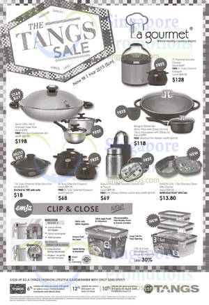 Featured image for La Gourmet Kitchenware Offers @ Tangs 21 Feb – 1 Mar 2015