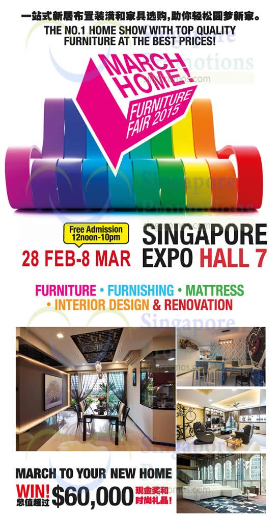 March Home 17 Feb 2015 March Home Furniture Fair 2015 Singapore Expo 28 Feb 2 Mar 2015