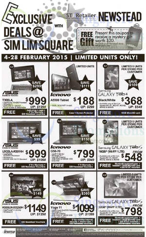Featured image for Newstead Exclusive Deals Offers @ Sim Lim Square 4 – 28 Feb 2015