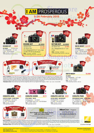 Featured image for Nikon Digital Cameras Promo Offers 5 – 28 Feb 2015
