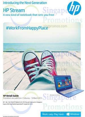 Featured image for HP Notebooks, Desktop PCs & Accessories Offers 1 Feb – 18 Mar 2015