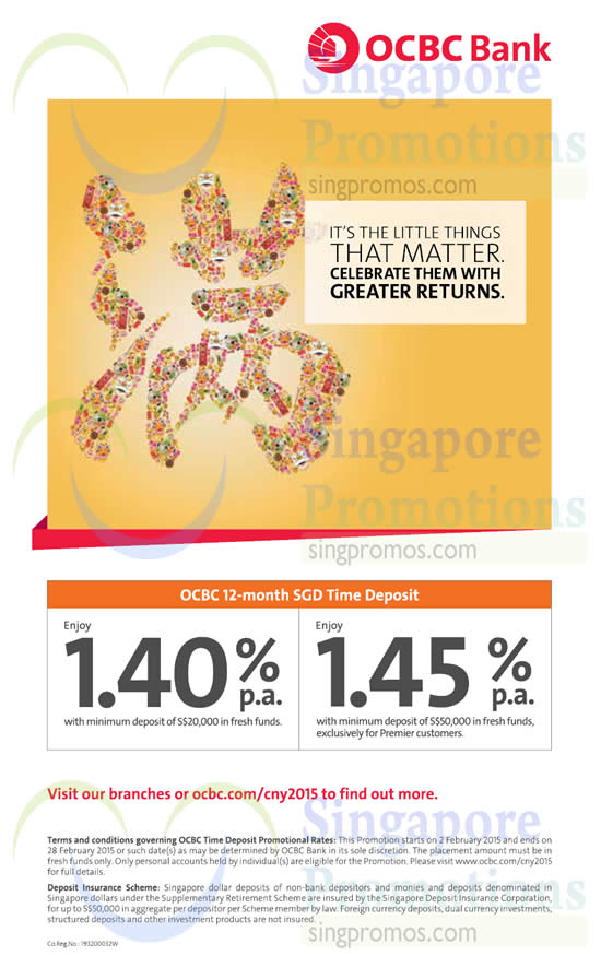 OCBC Up To 1.4% p.a. 12-mth Time Deposits Promo 2 Feb 2015