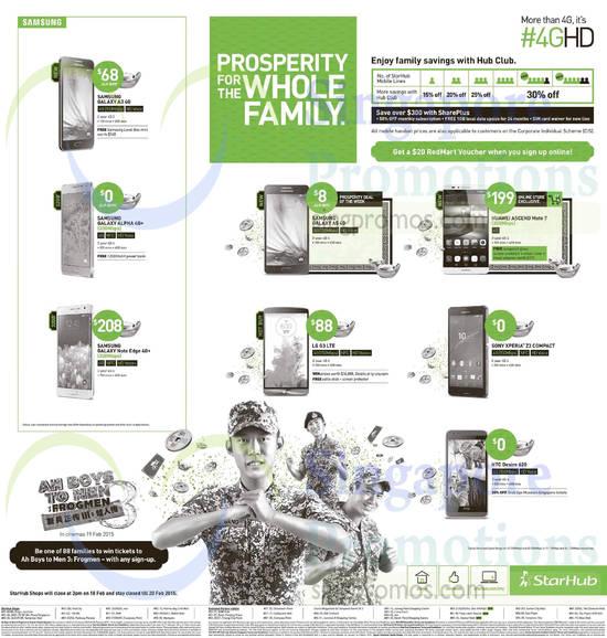 Samsung Galaxy A3, Samsung Galaxy Alpha, Samsung Galaxy Note Edge, Samsung Galaxy A5, LG G3, Huawei Ascend Mate 7, Sony Xperia Z3 Compact, HTC Desire 620