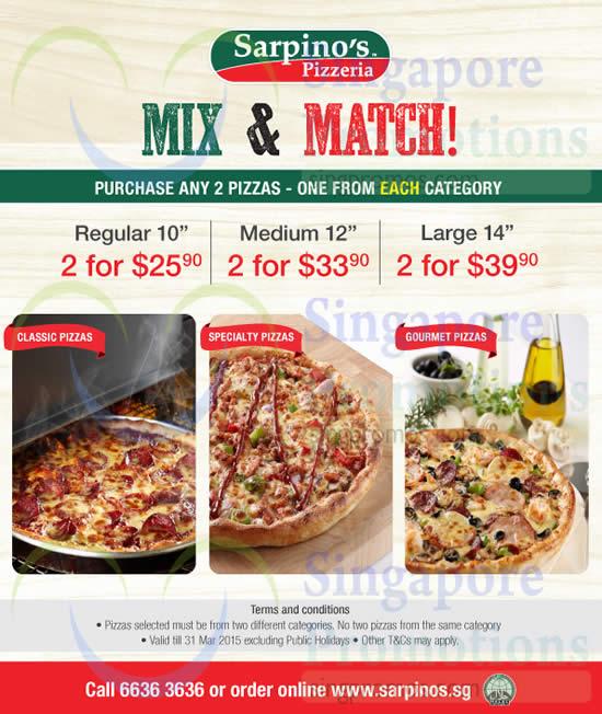Sarpino's discount coupons