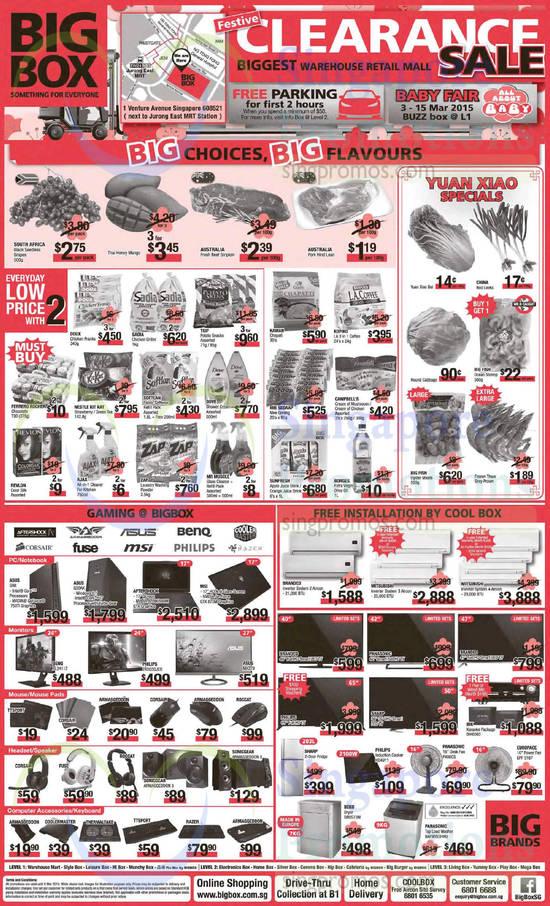 ASUS GR8 Desktop PC, ASUS G30AK Desktop PC, BenQ XL2411Z Monitor, Philips 242G5DJEB Monitor, ASUS MX279 Monitor, SonicGear Armaggeddon 3 Speakers, SonicGear Armaggeddon 5 Speakers, Philips HD4911 Induction Cooker, Panasonic F400CS Fan, EuropAce EPF 3167 Fan, Beko DRVS73W Dryer, Panasonic NAF90S3HRQ Washer