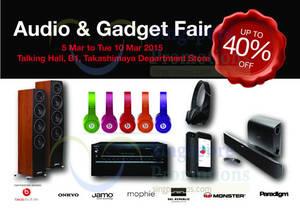 Featured image for Hwee Seng Audio & Gadget Fair @ Takashimaya 5 – 10 Mar 2015