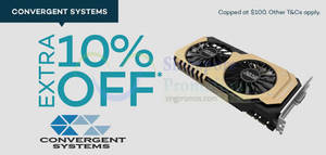 Featured image for Convergent Systems 10% Off Storewide NO Min Spend Free Shipping 24 Mar – 6 Apr 2015