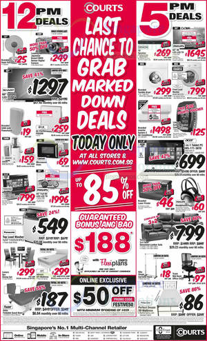 Featured image for Courts Up To 85% Off 1-Day Offers 2 Mar 2015