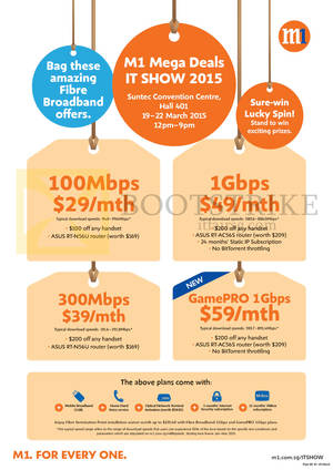 Featured image for M1 IT SHOW 2015 Smartphones, Tablets & Home/Mobile Broadband Offers 19 – 22 Mar 2015