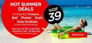 Featured image for Air Asia From $39 (all-in) Promo Fares 30 Mar – 5 Apr 2015