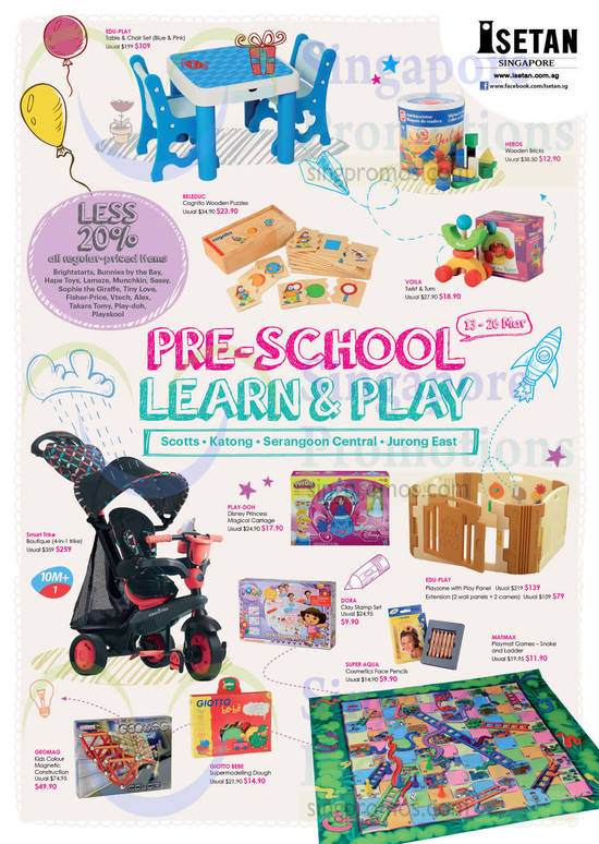 Less 20 Percent Off Selected Brands, Table Chair Set, Playmat Games, Play Panel