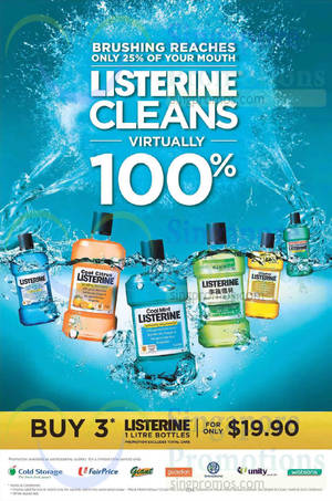 Featured image for Listerine 3 Bottles For $19.90 Promo 4 Mar 2015