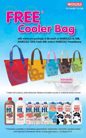 Featured image for Marigold Spend $8 & Get Free Cooler Bag 5 – 15 Mar 2015