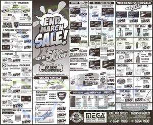 Featured image for Mega Discount Store TVs, Gas Hobs & Other Appliances Offers 28 – 29 Mar 2015