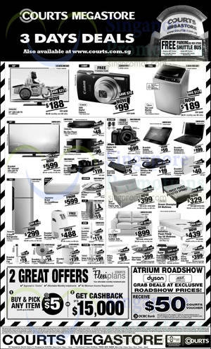 Featured image for Courts 3 Days Deals 28 – 30 Mar 2015