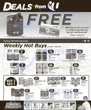 Featured image for NTUC Unity Spend $50 & Get Free $5 Voucher 27 Mar – 23 Apr 2015