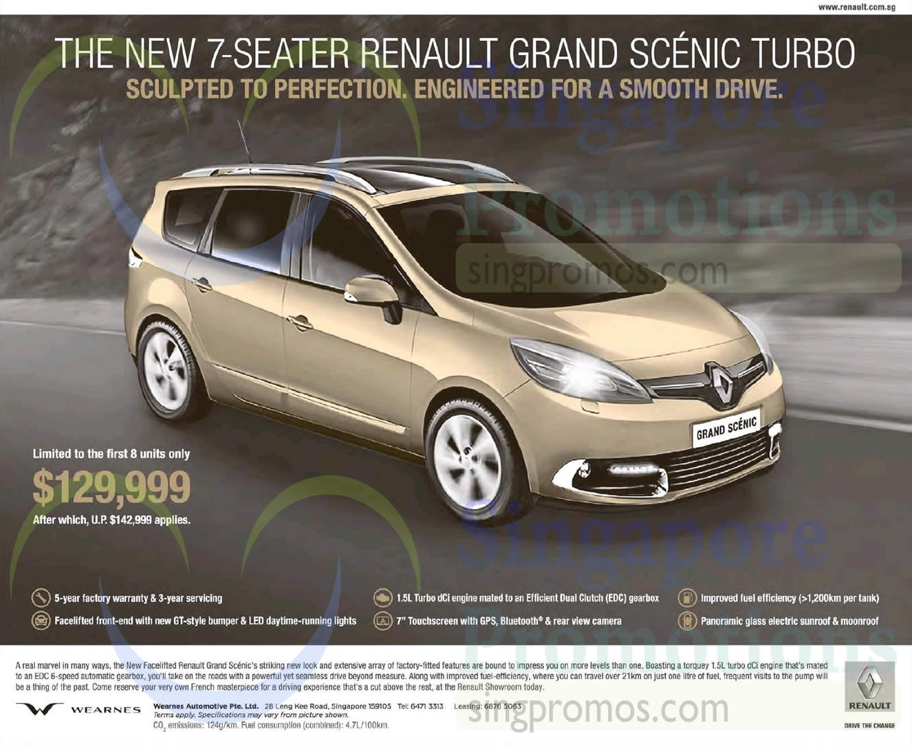 renault grand scenic turbo features price 7 mar 2015. Black Bedroom Furniture Sets. Home Design Ideas