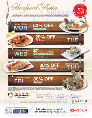 Featured image for Seafood Paradise Up To 50% Off Weekdays Promo 20 Mar – 30 Apr 2015