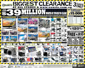Featured image for Courts Biggest Clearance Offers 21 – 23 Mar 2015