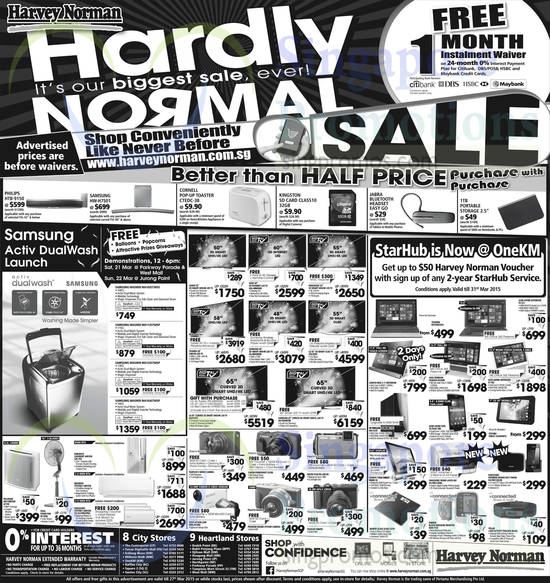Featured image for Harvey Norman Electronics, IT, Appliances & Other Offers 21 - 27 Mar 2015