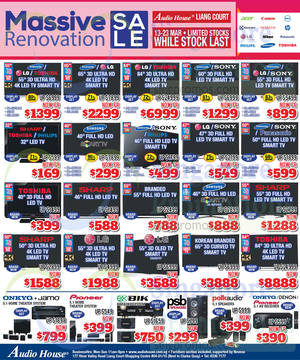 Featured image for Audio House Electronics, TV, Notebooks & Appliances Offers @ Liang Court 13 – 23 Mar 2015