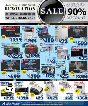 Featured image for Audio House Electronics, TV, Notebooks & Appliances Offers @ Liang Court 27 – 30 Mar 2015