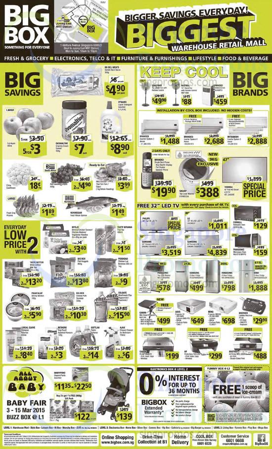 Mistral MSF1698 Fan, Sharp ESR90GSA Washer, Toshiba 47L 5450VE TV, LG 40UB800T TV, Samsung UA55HU7200KXXS TV, Samsung UA65HU7200KXXS TV, Cornell CEOE331BL Oven, Panasonic NN-GT353MYPQ Oven, Panasonic NA-F100S3HRQ Washer, Samsung RT22FARADSA/SS Fridge, Panasonic NR-BW465XSSG Fridge, Beko DN1632230DJZX Fridge, Canon RAVO R4 Mini Smart Projector, ASUS S1 Projector, BenQ MS526 Projector, Brother PT-80 Labeller Machine, Canon MG6670 Printer, HP Envy 7640 Printer, Brother MFC-J3520 Printer and Mamil Gold Growing Up Milk Gift Pack Step 3