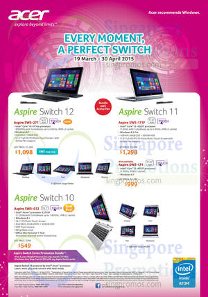 Featured image for Acer Notebooks, Desktop PCs, Tablets & Monitors Price List 19 Mar – 30 Apr 2015