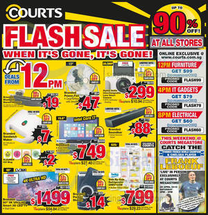 Featured image for Courts Up To 90% Off 1-Day Offers 24 Apr 2015