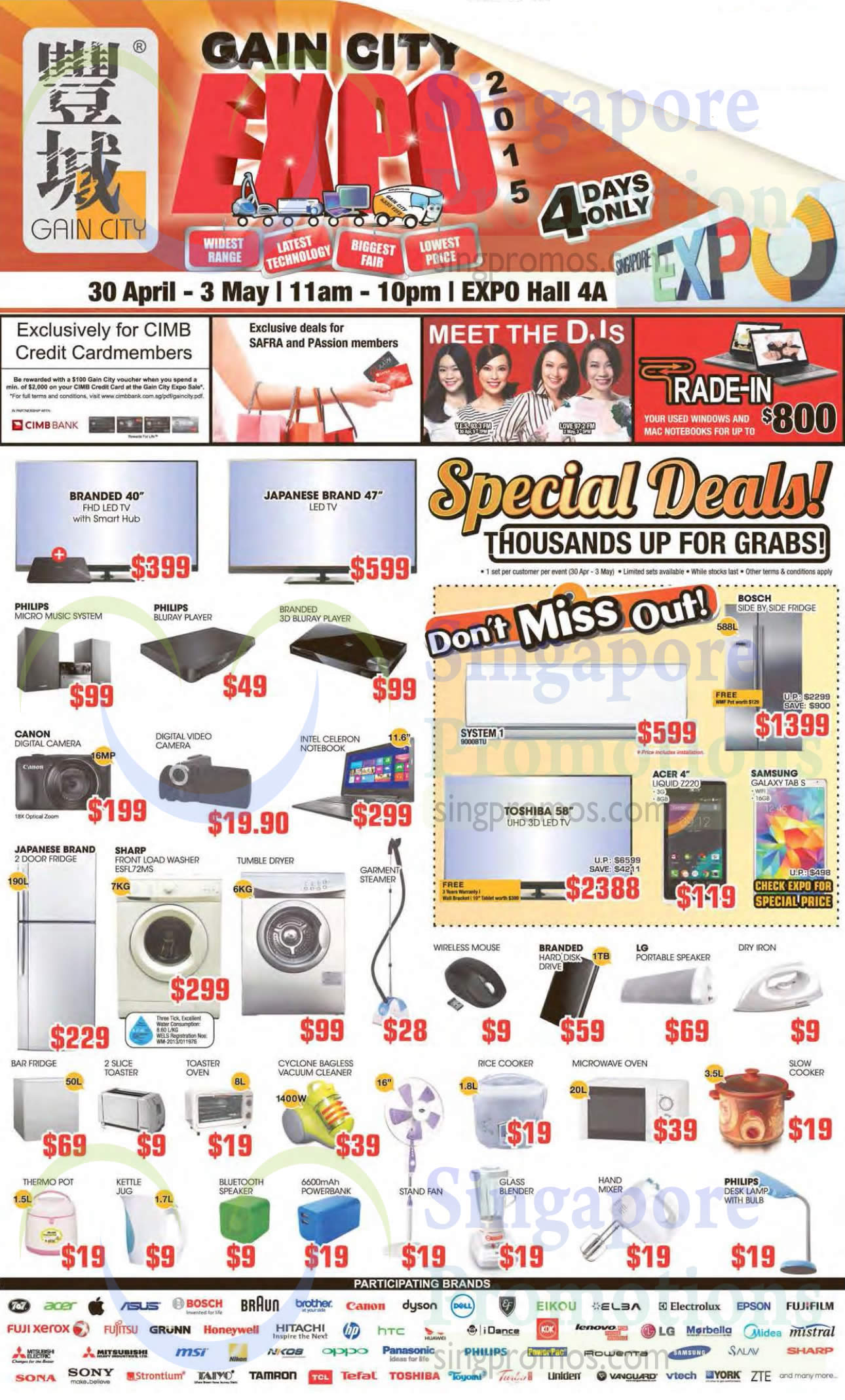 30 Apr Special Deals, CIMB Cardmember Offers, Meet DJs, Trade In Laptops, Participating Brands