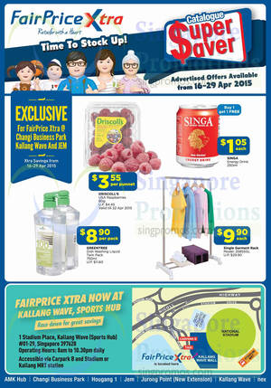 Featured image for NTUC Fairprice Catalogue Super Saver, Groceries & More Offers 16 – 29 Apr 2015