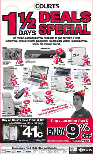 Featured image for Courts 1.5 Days Deals Early Closure Special 6 – 7 Apr 2015