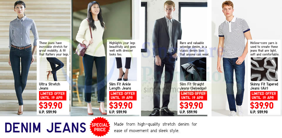 Denim Jeans, Ultra Stretch, Slim Fit, Straight