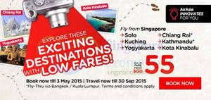 Featured image for Air Asia From $40 (all-in) Promo Fares 27 Apr – 3 May 2015