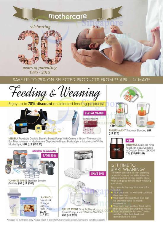 Feeding n Weaning, Philips Avent, Medela Breast Pump, Sterilizer
