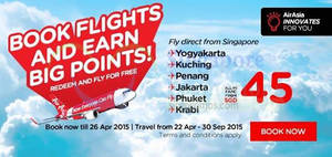 Featured image for Air Asia From $40 (all-in) Promo Fares 20 – 26 Apr 2015