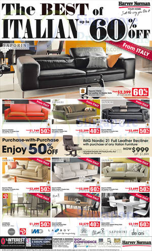 Featured image for Harvey Norman Recliners, Sofa Sets & Mattresses Offers 25 Apr – 3 May 2015
