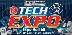 Featured image for Harvey Norman Tech Expo @ Singapore Expo 24 – 26 Apr 2015