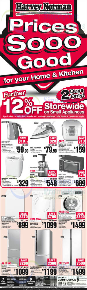 Featured image for Harvey Norman Electronics, IT, Appliances & Other Offers 18 – 24 Apr 2015