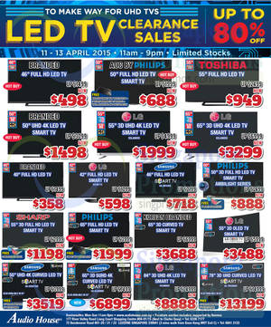 Featured image for Audio House Electronics, TV, Notebooks & Appliances Offers 11 – 13 Apr 2015