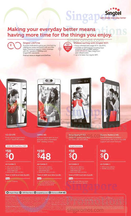 LG G3, Oppo N3, Sony Xperia C3, Xiaomi Redmi 2
