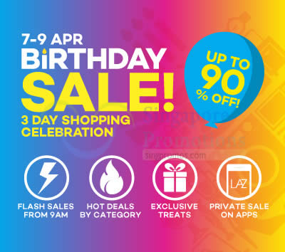 Lazada Birthday 7 Apr 2015