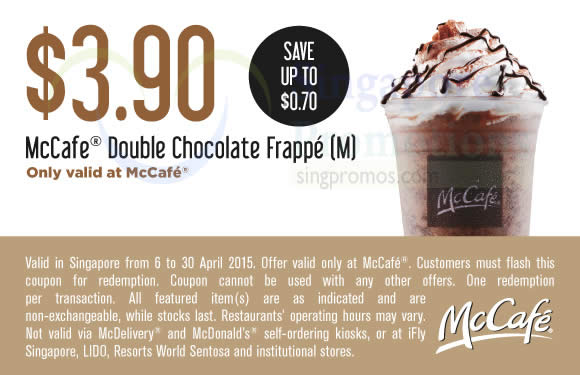 (McCafe) 3.90 Double Chocolate Frappe