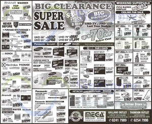 Featured image for Mega Discount Store TVs, Washers, Hobs & Other Appliances Offers 11 – 12 Apr 2015