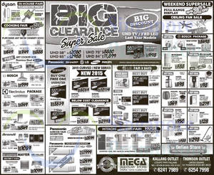 Featured image for Mega Discount Store TVs, Washers, Hobs & Other Appliances Offers 25 Apr 2015