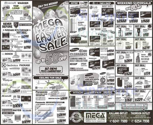 Featured image for Mega Discount Store TVs, Washers, Hobs & Other Appliances Offers 4 – 5 Apr 2015