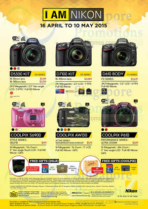 Featured image for Nikon DSLR Digital Camera Offers 16 Apr – 10 May 2015
