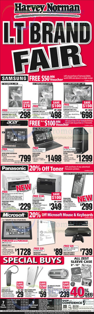 Featured image for Harvey Norman Electronics, IT, Appliances & Other Offers 11 – 17 Apr 2015