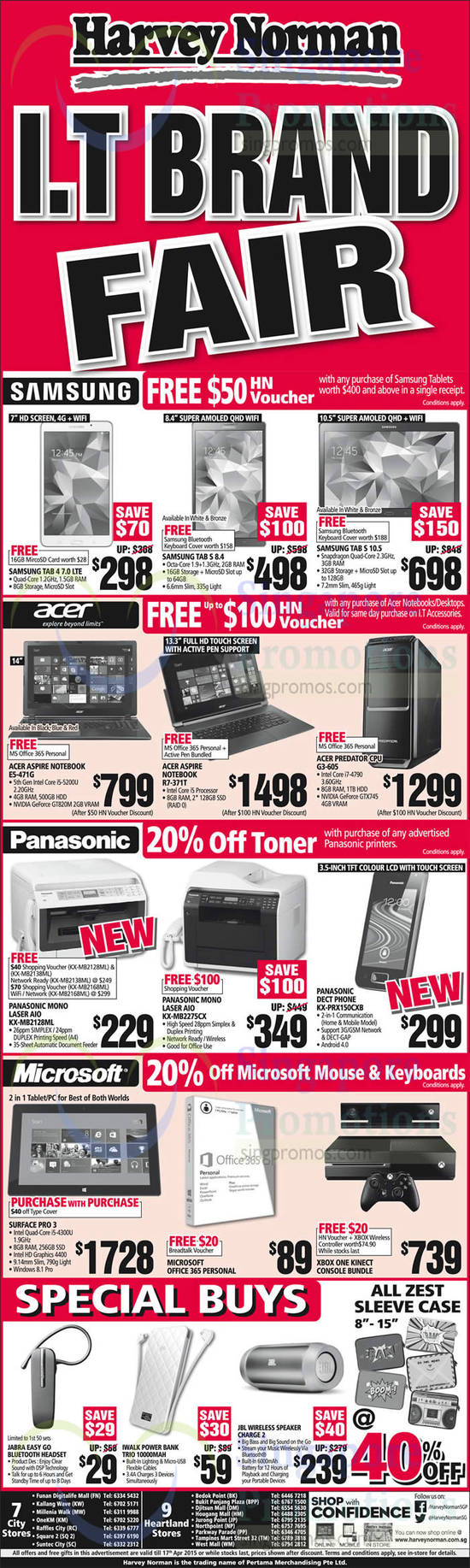 Featured image for Harvey Norman Electronics, IT, Appliances & Other Offers 11 - 17 Apr 2015