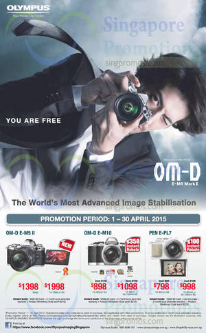 Featured image for Olympus Digital Cameras Offers 1 – 30 Apr 2015
